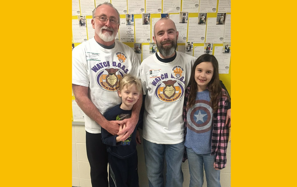 <h1>Double-Duty Watch DOGS</h1> <p>For the first time ever at J.B. Nelson, a JBN dad and his dad volunteered to be Watch DOGs on the same day. The dad/grandpa Watch DOG duo was dynamite!</p>